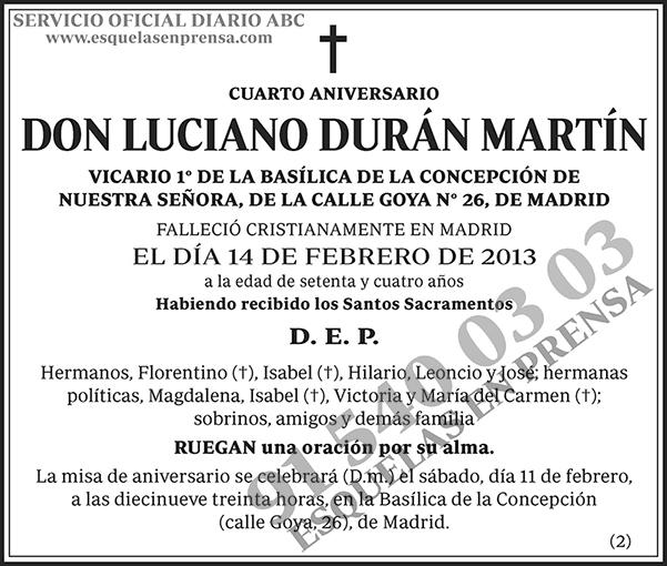 Luciano Durán Martín